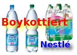 Boykottiert Nestlé denn Wasser ist Menschenrecht!
