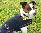 Tartan trimmed Rovercozy Merino Possum dog coat