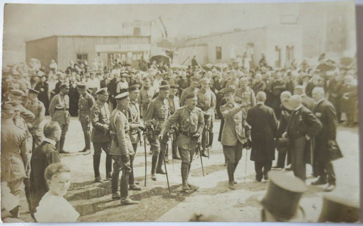 Kaiser Wilhelm II. zu Besuch in Ortelsburg, Fotokarte, Photo Max Kiby Theaterstr
