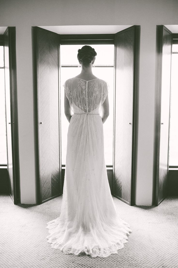 Charlotte the last minutes before the first look at Sofitel on Collins Street. Melbourne wedding photography / Gold and Grit Photography