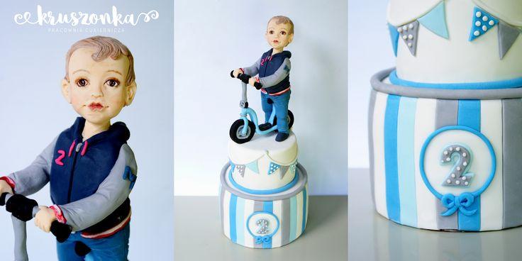 Tort na 2 urodziny dla chłopca
