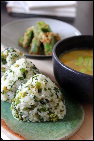 カブの葉おにぎり #food #japan