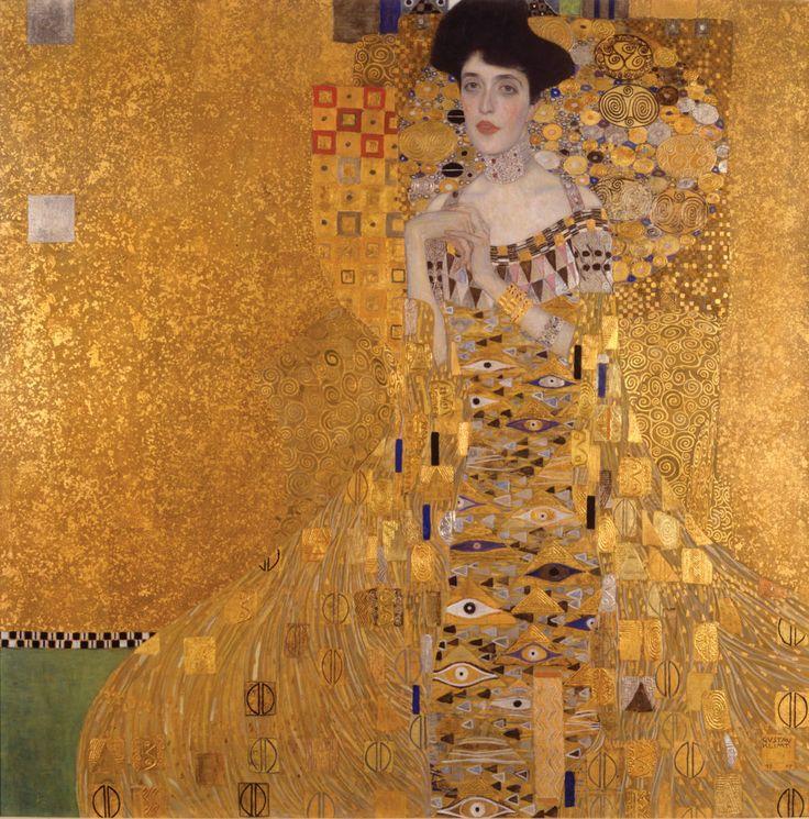 Gustav Klimt, Portrait of Adele Bloch-Bauer I (1907). Courtesy of the Neue Galerie.