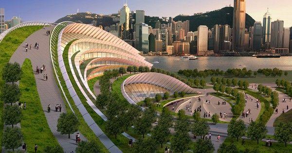 Aedas designs a railway station like a hill you can walk on.