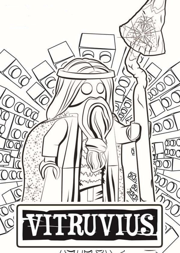 Vitruvius LEGO Movie Coloring Pages