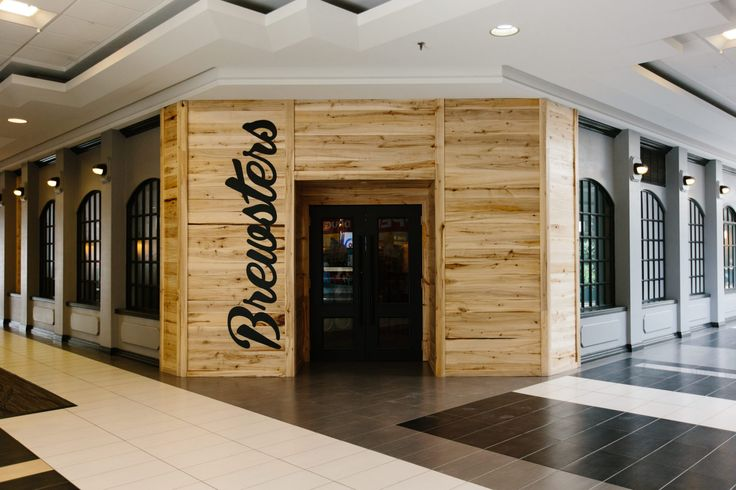 Brewsters Bonavista Restaurant | Holland Design, Restaurant, hospitality, bar, beer, brewery, interior, design, entrance, wood, aspen, signage