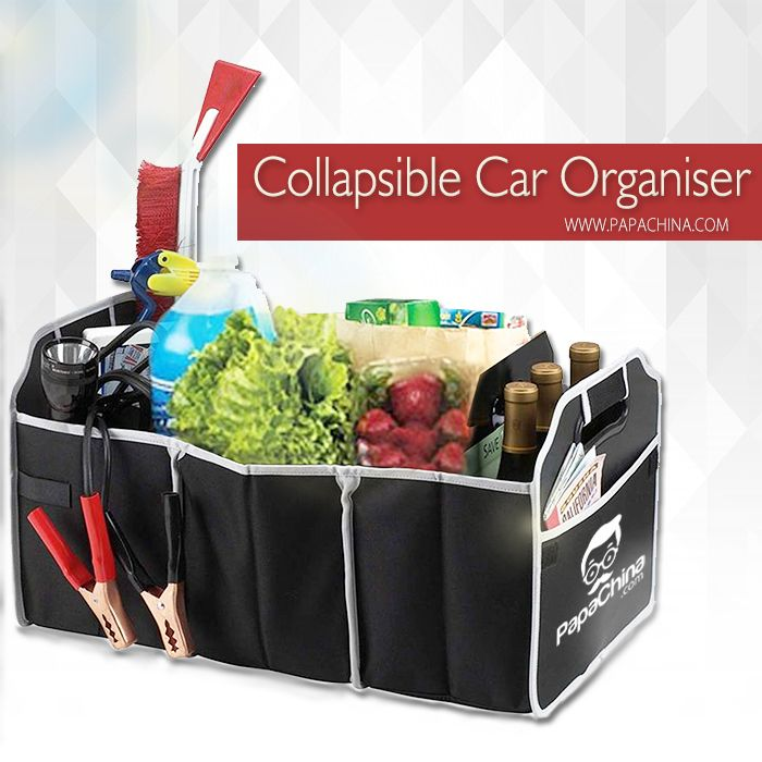 Collapsible Car Organiser, a dynamic product which offers some of the great features like 3 storage compartment, two large pockets on each end, two smaller pockets on side, collapsible, die-cut handle, thereby creating a brand awareness among your customers by making you a popular brand.