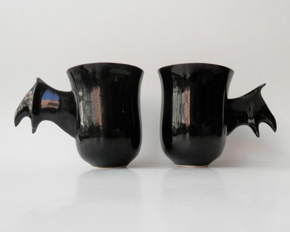 """""""Dark as a night – mug straight from bat's cave. Hold the wing and move yourself around to the world of comic books. Take a sip of your favorite"""