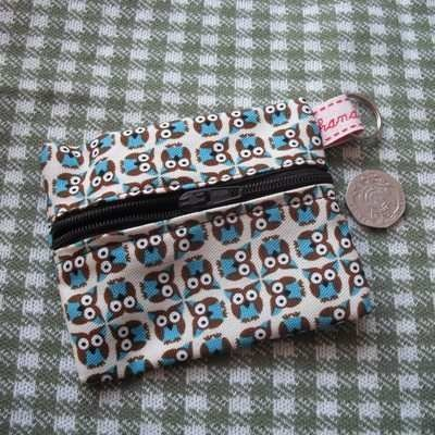 Tiny Owls purse, by Lemur Lady's Awesome Emporium (and look, it goes with the pendant!): Knit Flat, Zipper Ends, Owl Purse, Lemur Lady S, Change Purse, Tiny Owls