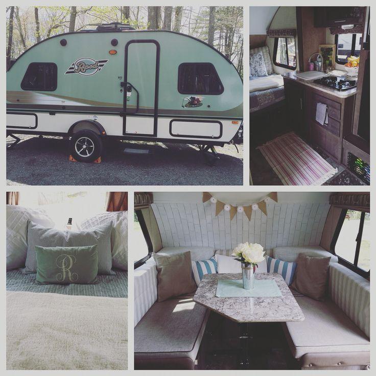 Camper remodel. Shabby chic. R-Pod.