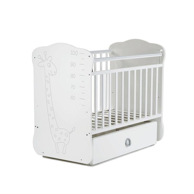 Детская кроватка СКВ Компани СКВ-4 Жираф 440001 белый