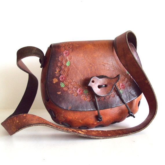 leather purses, vest and hair holders end of the sixties beginning of the seventies