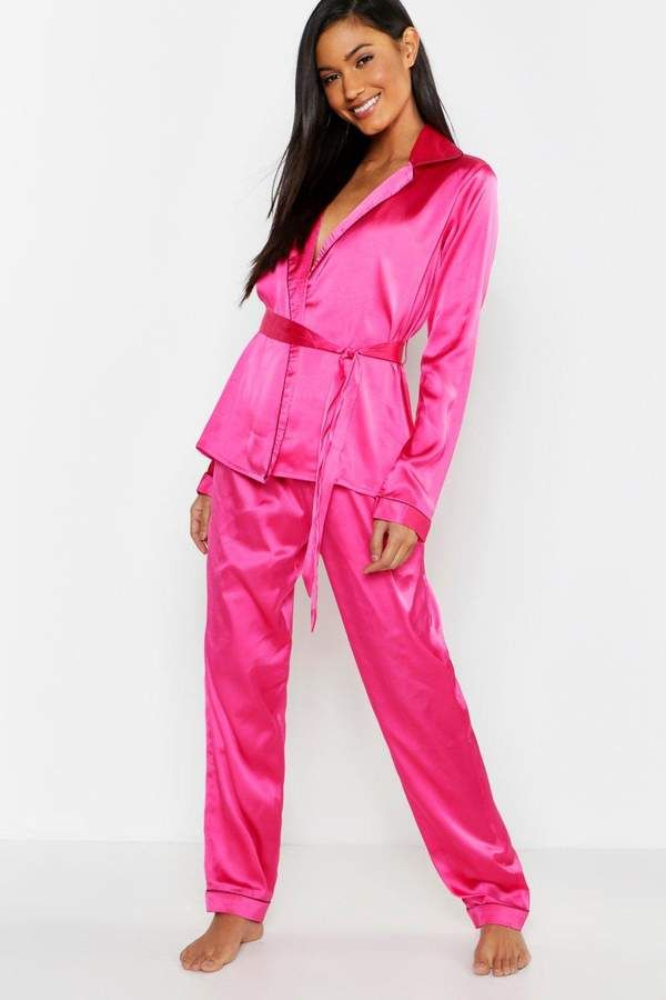 74895814532 boohoo Wrap Front Belted PJ Set #Front#Wrap#boohoo | Women's Lounge ...