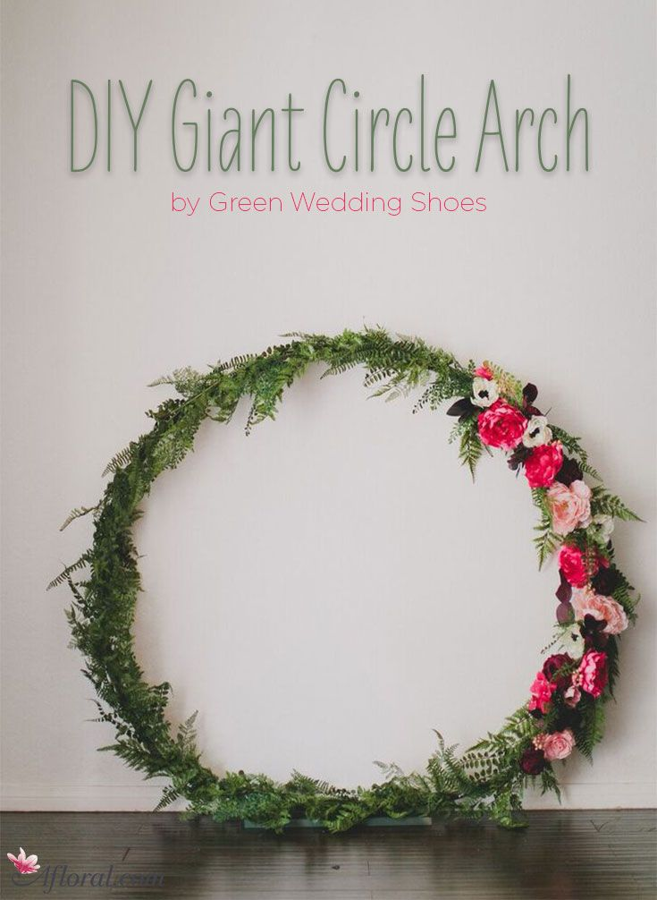 DIY Giant Circle Arch in 2019  DIY Wedding  DIY wedding wreath Wedding wreaths Wedding altars