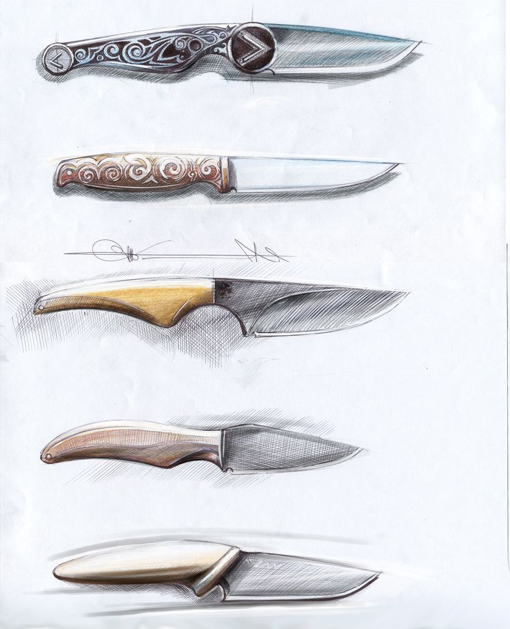 knife drawing designs - 736×908