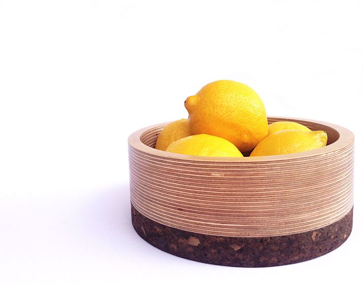 Korkur Bowl - Finnish birch plywood and charcoal cork. © 2014 Ren Designs.