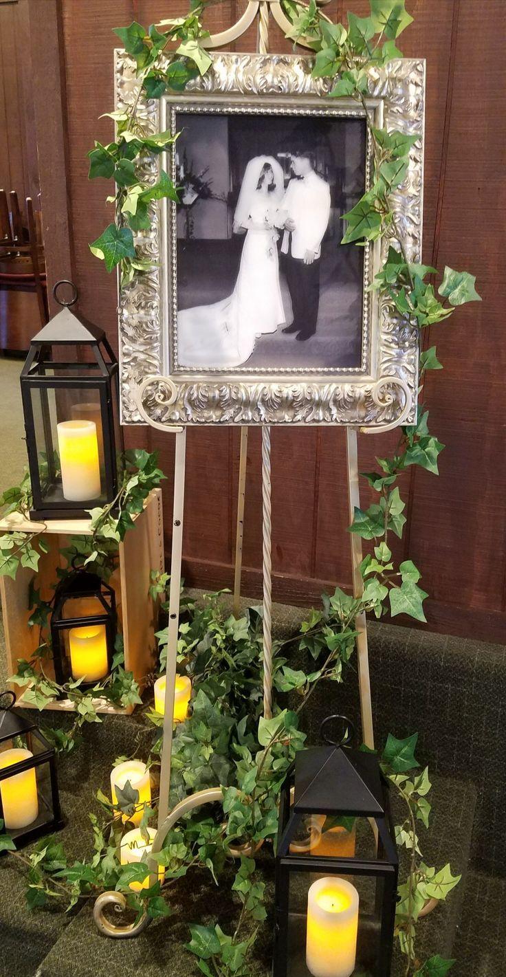 Original Wedding B W Photo Printed On Outside Glass Of Frame