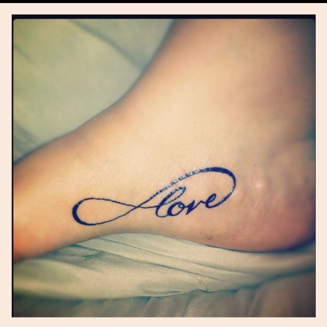 My infinity love tattoo,