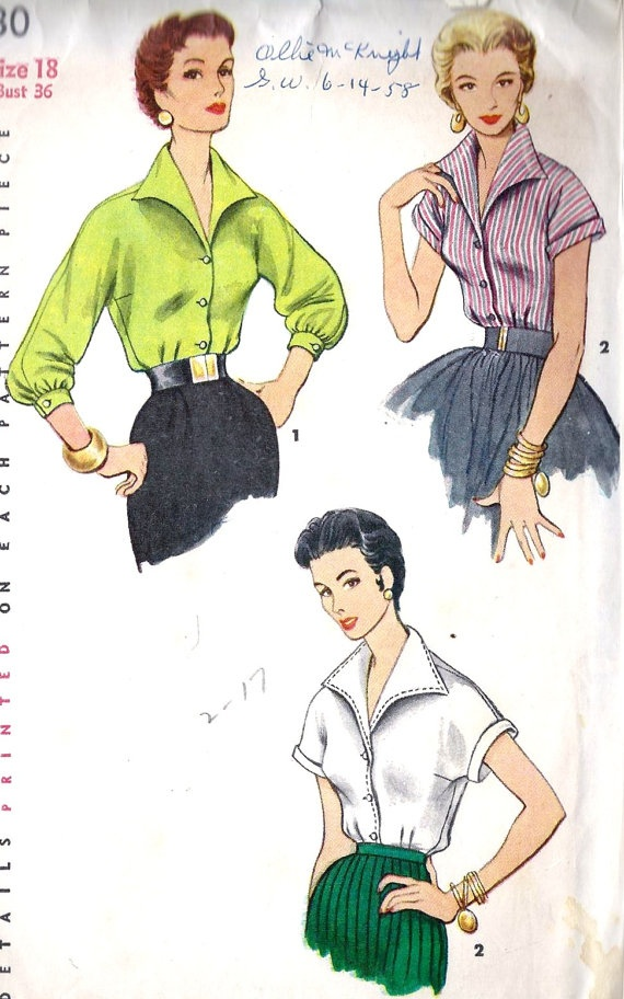 1950s Misses Rockabilly Blouse