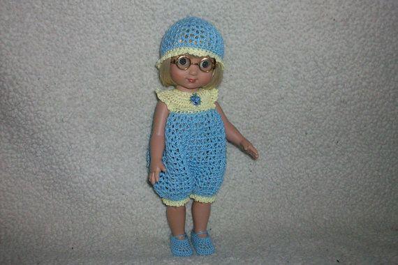 Crochet Romper Set For 10 Ann Estelle Doll by pinkney on Etsy