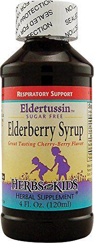 Elderberry Syrup-Sugar Free Herbs For Kids 4 oz Liquid