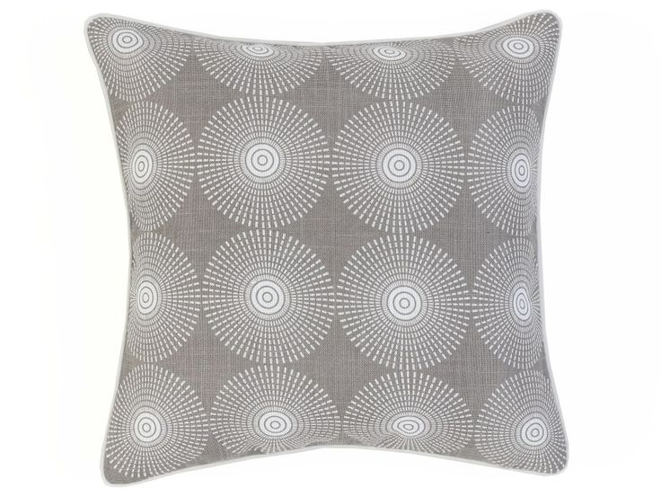 Vortex Grey Cushion Cover - An interesting circle-patterned design with a retro look.
