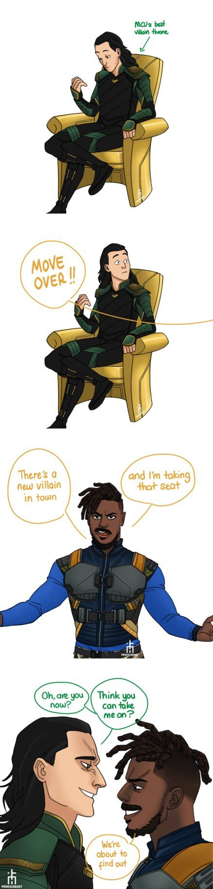 Best MCU Villain? by pencilHead7.deviantart.com on @DeviantArt<<<Erik Killmonger has my vote. Go N'jdaka!