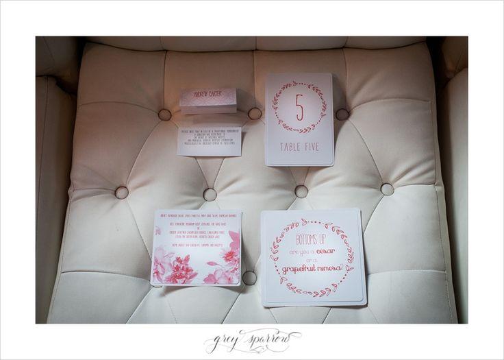 pink wedding stationary