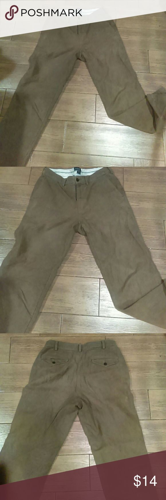Lands end brown suede men's pants size 30 Needs minor cleaning.  Please see pics. Overall condition of pants is great. Lands' End Pants