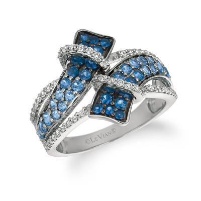 14K Vanilla Gold® Denim Ombré® 1 Cts. Ring with Vanilla Diamonds® 1/4 Cts.