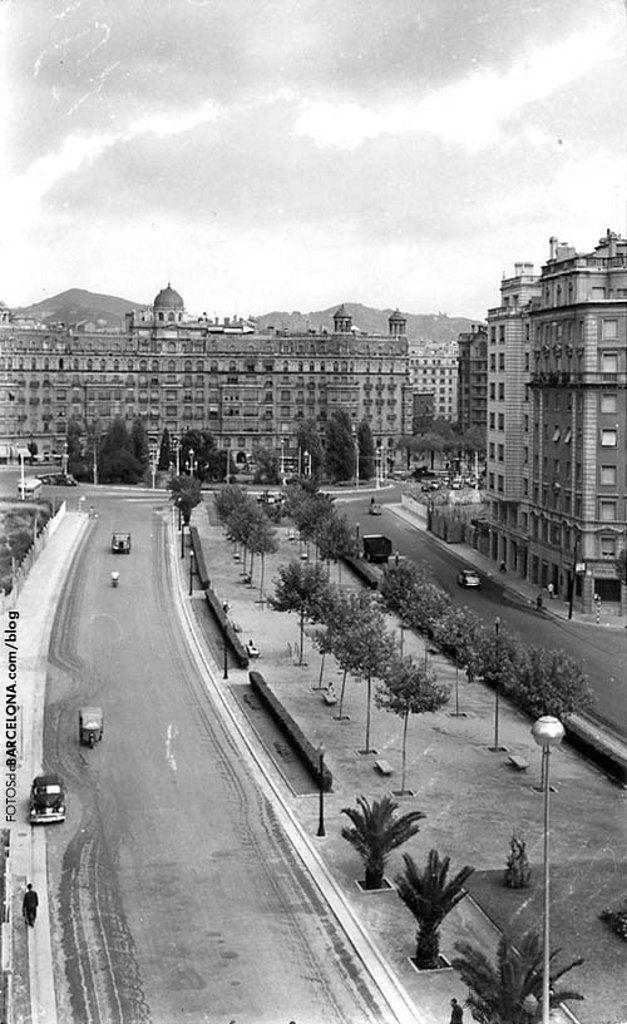 Av Infanta Carlota (now Josep Tarradellas) 1955 - Barcelona, Catalonia.