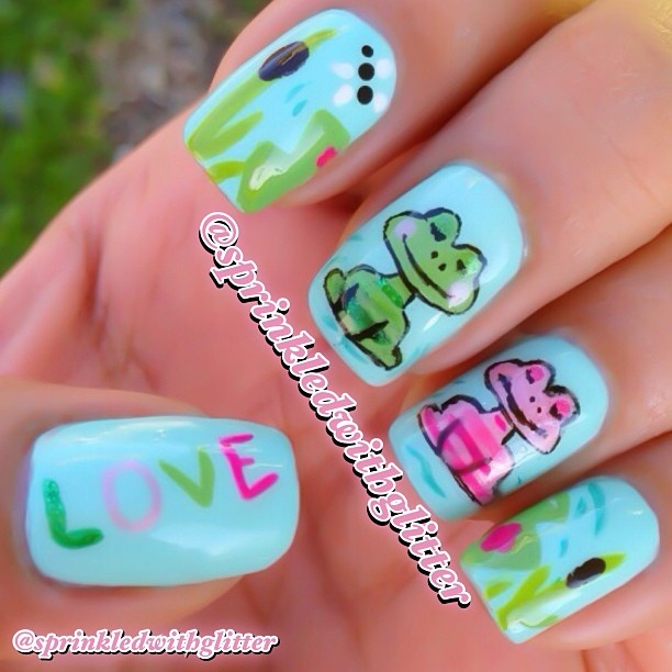 Frog Nail Art: 183 Best FROG NAIL ART Images On Pinterest