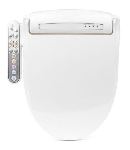 BioBidet Prestige BB-800 Round White Bidet Toilet Seat, Adjustable Warm Water, Self Cleaning, Side Panel, Posterior Feminine and Vortex Wash, Electric Bidet, Easy DIY Installation, 3 in 1 Nozzle, Power Save Mode is Eco Friendly -- Click image for more details.