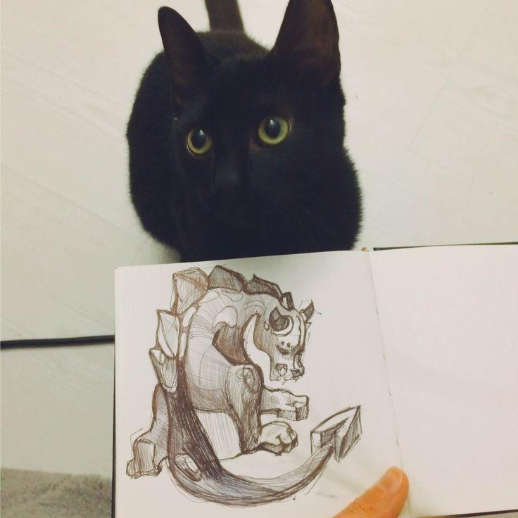 Небольшая зарисовка, графика #рисунок #набросок #зарисовка #графика #кот #персонаж #животное #эскизтату #тату #диджитал #арт #идея #блокнот #ручка #drawing #sketchbook #sketch #cat #art #animal #tattoo #tattooart #digitalart #idea #memo #mj #marinushkinaart