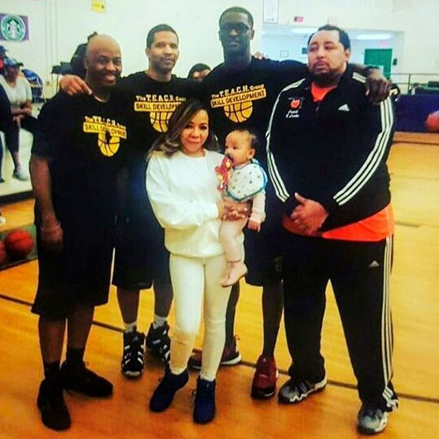 EVENT MODE: With Tiny Tameka Harris the first female owner of a co-ed Professional Basketball team The Atlanta Heirs in the Global Mixed Gender Pro Basketball League!  BOSS MOVES!!! AWESOMENESS!!! Also with The T.E.A.C.H GROUP training world class athlete