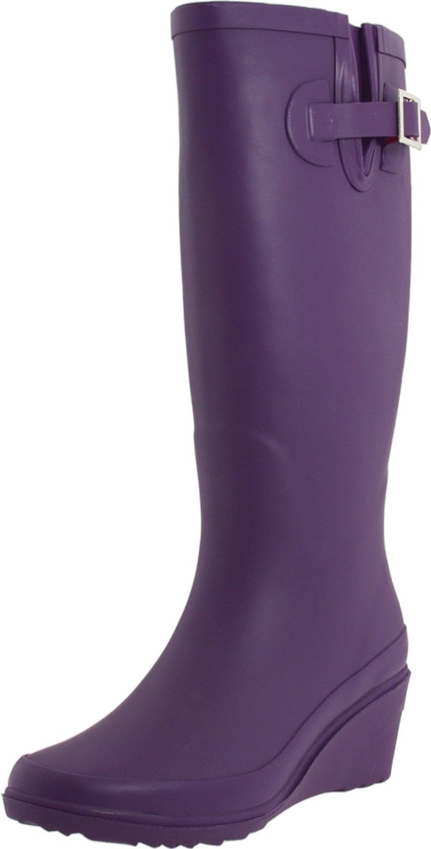 I need these wedge Purple Rain Boots!