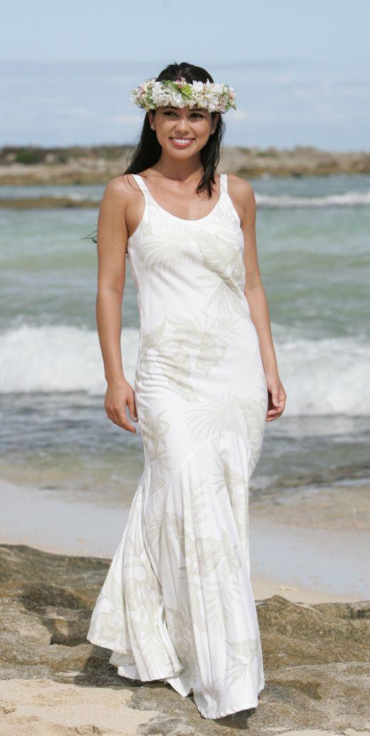 Hawaiian wedding dress wedding pinterest for Plus size hawaiian wedding dresses