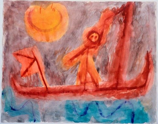 Paul Klee 'Abfahrt Des Abenterirers' (Departure of the Adventurer [my own attempt at translation g.s.]) 1939  Pencil and watercolor
