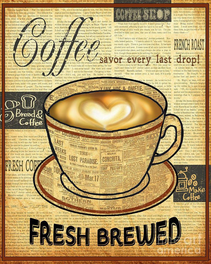Coffee Love-jp3595 Painting by Jean Plout