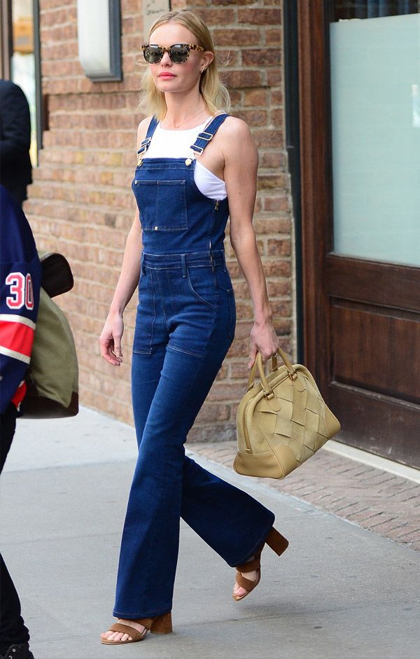 Kate Bosworth Street Style Jardineira Jeans