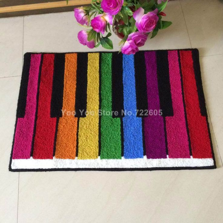 Piano keyboard muziek tapijt tapijt tapijt met de hand gemaakt van hoge kwaliteit gepersonaliseerde/vloer matten tapijt voor woonkamer: 80* 55cm in Free shipping Rose flower shaped rug/Mat/Carpet for Livingroom/Bedroom rose area rug tapis alfombras, Machine washable 8 van mat op AliExpress.com | Alibaba Groep