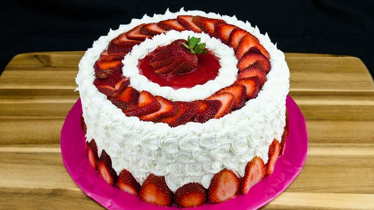 Strawberry Cake Recipe: How to Make Strawberry Cake by Cookies Cupcakes ...