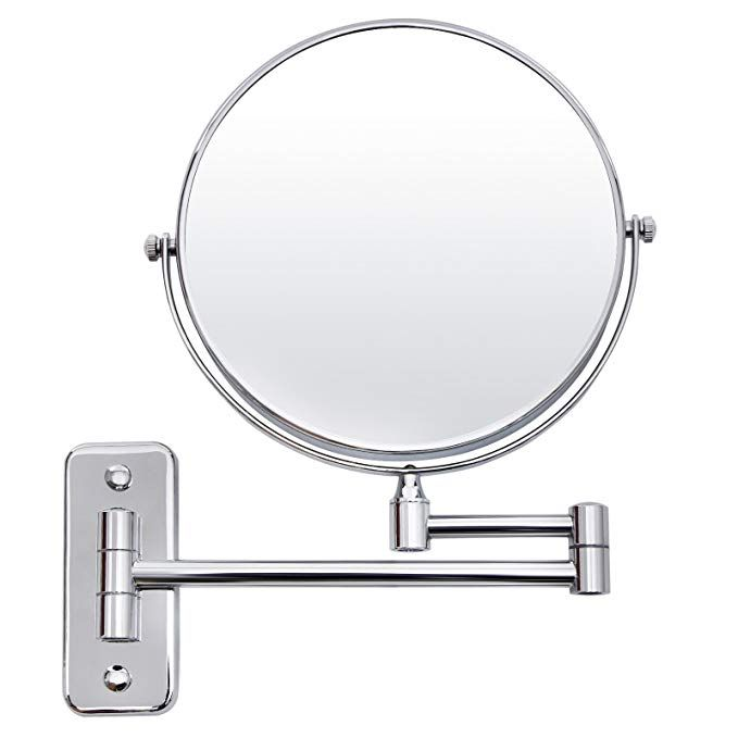 Amazon Com Songmics 7x Magnifying Wall Mount Makeup Mirror 8 Inch Two Sided Extendable Bathroom Vanity Mi Wall Mounted Makeup Mirror Mirror Magnifying Mirror