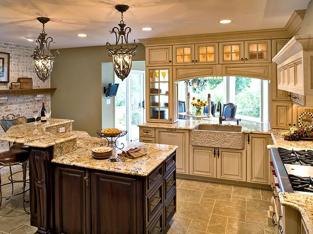 Love!!!: Cabinets, Kitchens Design, Dreams Kitchens, Tuscan Kitchens, Colors, Kitchens Ideas, Sinks, Islands, Country Kitchens