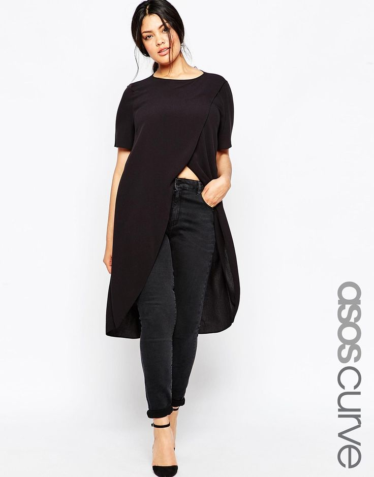 ASOS+CURVE+Maxi+Wrap+Over+T-Shirt