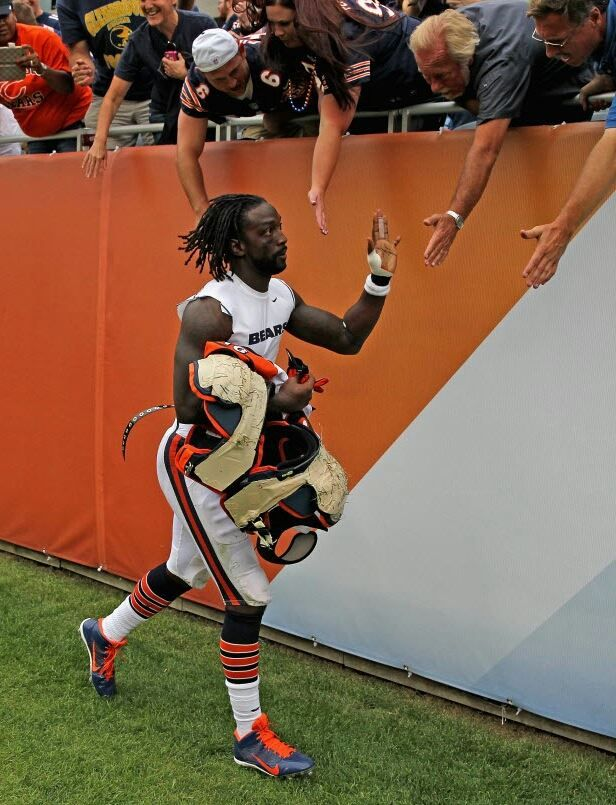 0e69bb75954 ... Charles Tillman of the Chicago Bears greets fans after a win over the  Cincinnati Bengals at ...