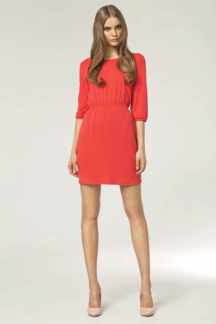 Romantic coral dress