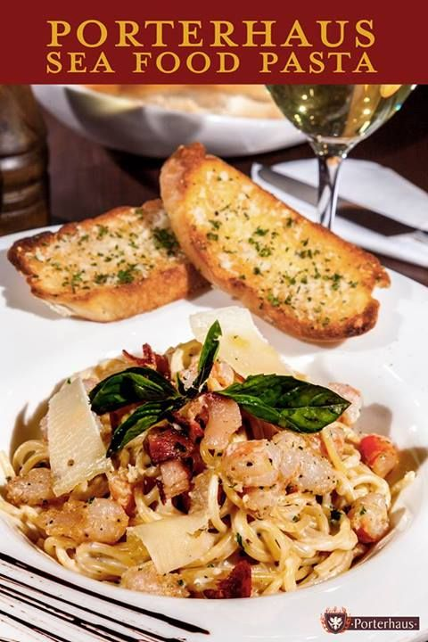 #Deepoceandelights.  Magic happens when #culinary delights from the deep ocean combine with authentic & traditionally treated Italian #pasta, both coming together to give you a taste best described as you quickly profound ecstasy.   #Porterhausgriil #Porterhaus #steaks #pasta#seafood #seafoodpasta