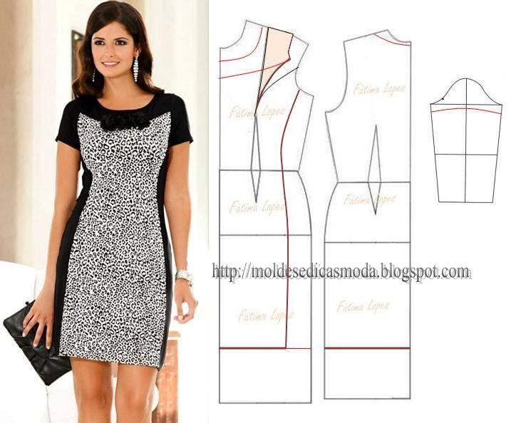 3075 best Costura images on Pinterest | Cute dresses, Block dress ...