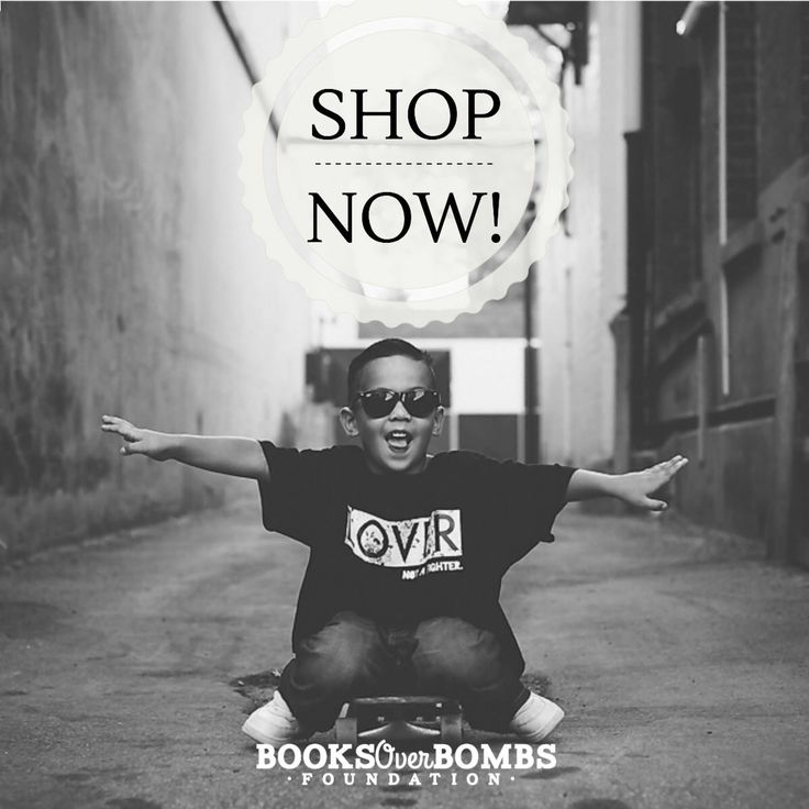 Every purchase goes towards the education of kids living in refugee camps. Visit www.booksoverbombs.org/shop to purchase yours today • GMO-free • 100% Organic Cotton • Fair Trade •
